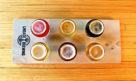 Brewery Tasting Package for Two, Four, or Six at Lineage Brewing (Up to 32% Off)