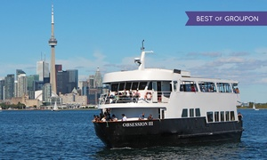 Cruise Toronto: Dinner or Brunch Cruise on the Obsession III from Cruise Toronto (Up to 48% Off)
