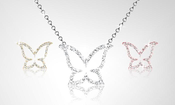 Zion Paris SOR Un Collier Papillon Luxury Crystal Orné de Swarovski®  Elements dès 12