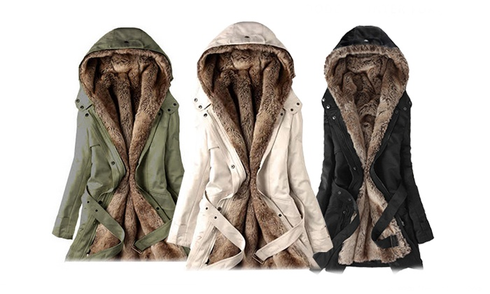 Groupon Goods: Hooded Jacket with Faux-Fur Lining (Shipping Included)