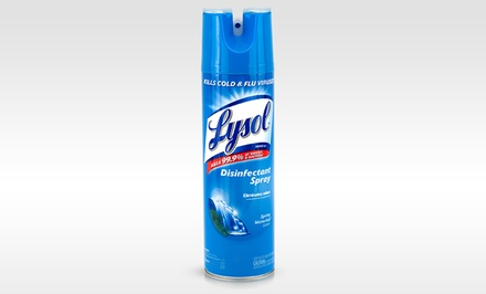 Lysol Spring Waterfall-Scented Disinfectant Spray; 12-Pack of 12.5oz. Cans + 5% Back in Groupon Bucks
