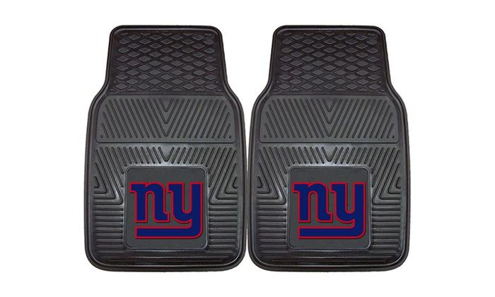 New York Giants 2-Piece Heavy-Duty Vinyl Car Mat Set : New York Giants 2-Piece Heavy-Duty Vinyl Car Mat Set