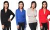 Women's Crossover Faux Wrap Cardigan: Women's Crossover Faux Wrap Cardigan