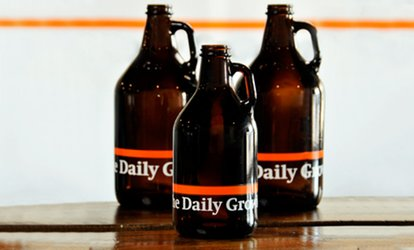 image for Beer-Tasting Packages with Unfilled Growlers for Two or Four at The Daily Growler (Up to 34% Off)