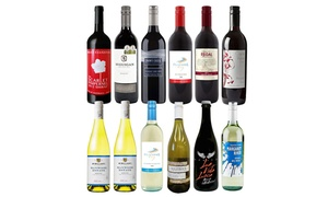 12 Red, White, or Mixed Wines