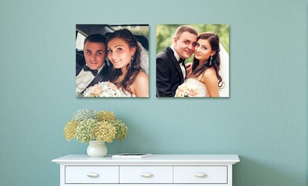 image for Custom Square Metal Photo Prints from Picture It On Canvas