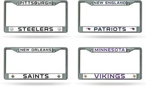 NFL Chrome License Plate Frame