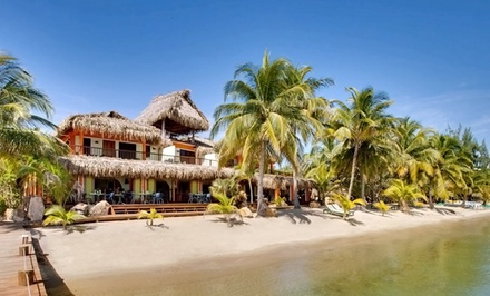 groupon daily deal - 3-, 4-, or 6-Night Stay for Two Adults and One Kid 11 or Younger at Robert's Grove Beach Resort in Belize