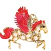 Red Wing Guardian Angel Horse Key Chain