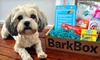 BarkBox Monthly Delivery of Dog Goodies: Three- or Six-Month Subscription for Dog Goodies from BarkBox (Up to 47% Off). Free Shipping.