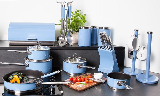 Morphy richards 21pc kitchen set groupon goods for Kitchen set groupon