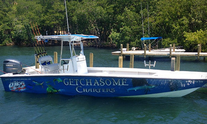 Getchasome Charters - Bal Harbour: $75 for a Five-Hour Fishing Charter from Getchasome Charters ($160 Value)