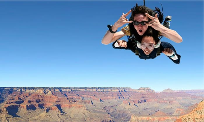 Paragon Skydive - Grand Canyon National Park Airport: Tandem Skydiving Premium Package at the Grand Canyon for One, Two, or Three from Paragon Skydive (Up to 40% Off)
