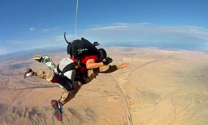 Skydive Phoenix - Maricopa: Tandem Skydive Package for One, Two or Four with DVD, Photos, and T-Shirt at Skydive Phoenix (Up to 44% Off)