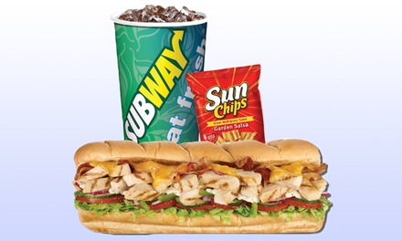 $11 for Two Groupons, Each Good for $10 Worth of Sandwiches at Subway ($20 Value)