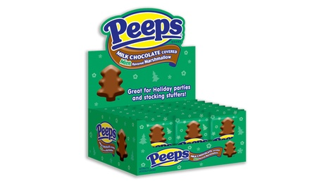 PEEPS Chocolate Covered Marshmallow Mint Trees (24-Count)