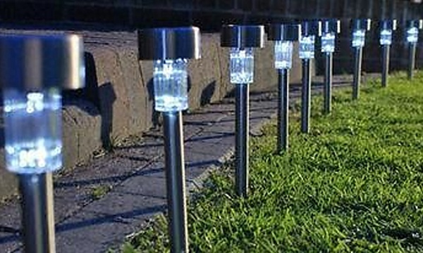 Ten Pack Of Solar Powered Garden Lights For 11 99 With Free Delivery