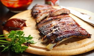 Texas Pit Bar-B-Que: BBQ Meal for 2, or BBQ Package for 12 at Texas Pit Bar-B-Que (Up to 51% Off)