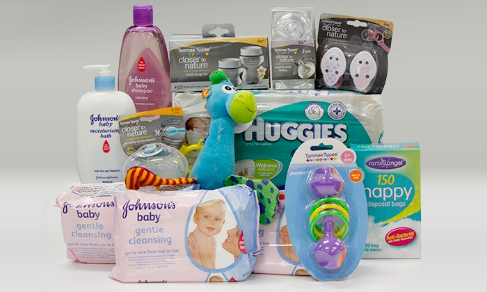 Newborn baby pack with nappies