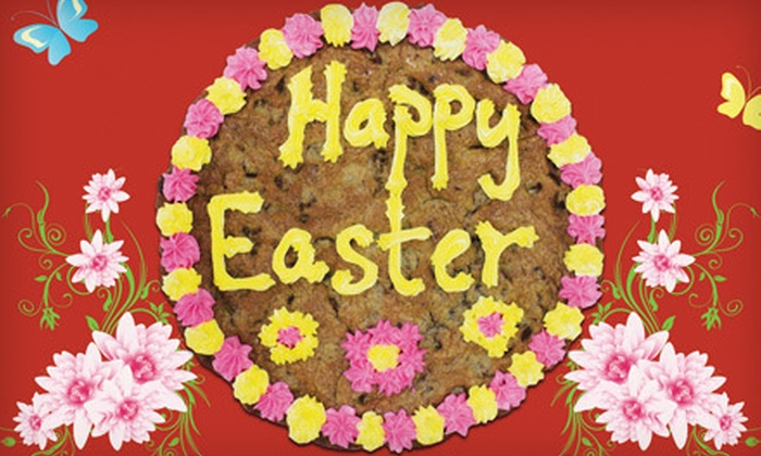 Hungry Bear Cookies - Multiple Locations: One or Two Large Easter-Themed Cookie Cakes at Hungry Bear Cookies (53% Off)