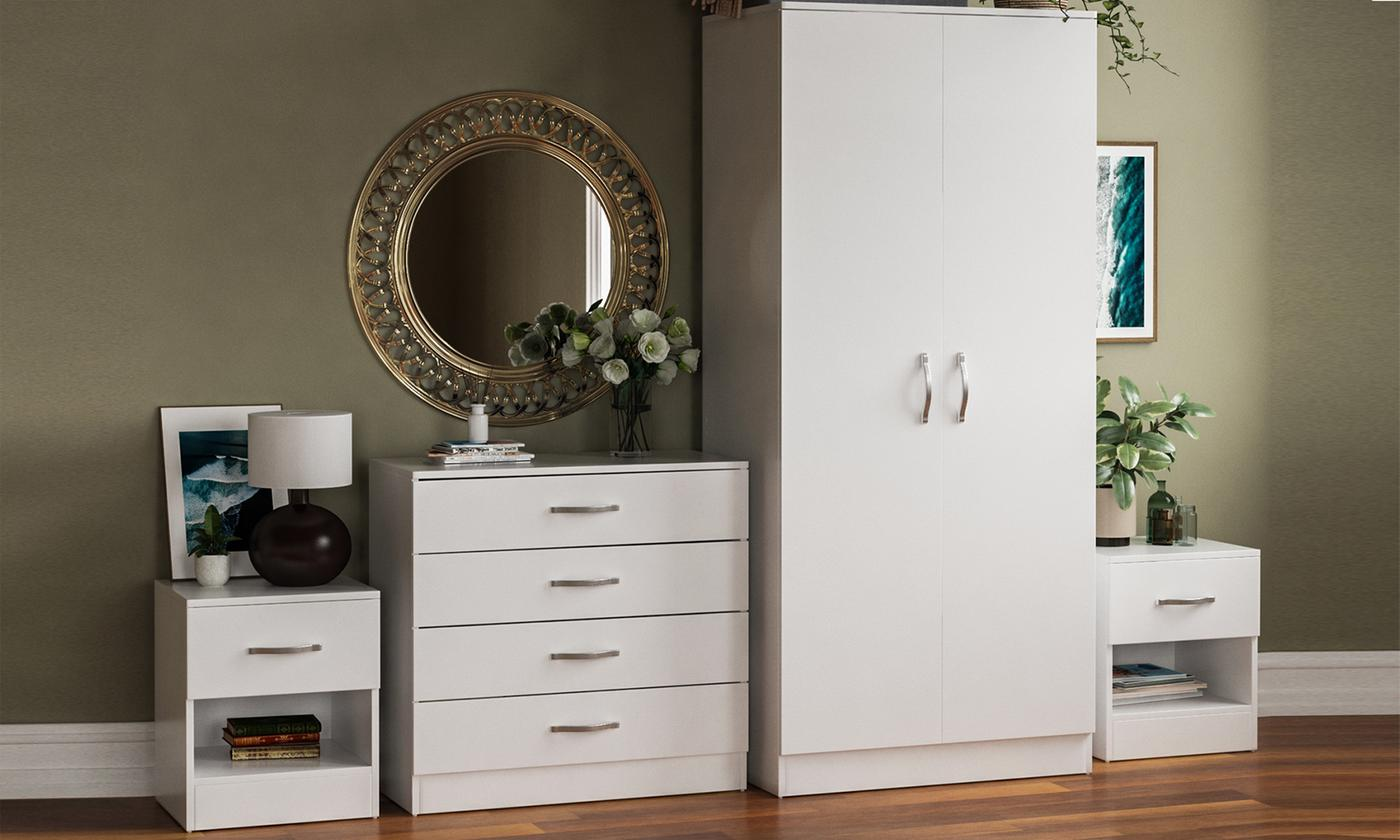 Riano Bedroom Furniture Range from £22.99 (48% OFF)