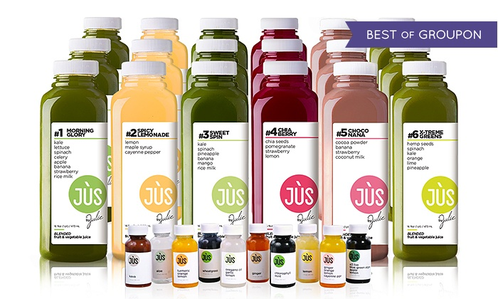 Jus by Julie: Three-Day Juice Cleanse for One or Two with Shipping Included from Jus by Julie ( 36% Off )