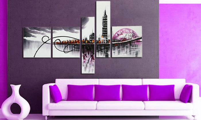 Fabuart Single Or Multi Panel Abstract Wall Art: Fabuart Single Or Multi  Panel ...