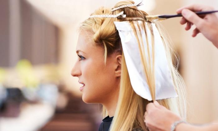Aria Salon & Spa - Marina Bay: Haircut with Aveda Conditioning Treatment and Optional Color or Highlights at Aria Salon & Spa (51% Off)