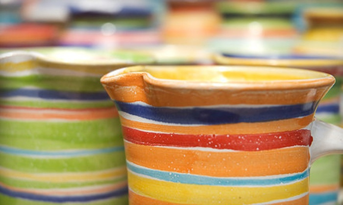 Pottery Plus Fired Art Studio - Tarrytown: Pottery Painting for Two, or a One-Hour Wheel Lesson for One or Two at Pottery Plus Fired Art Studio (Up to 57% Off)