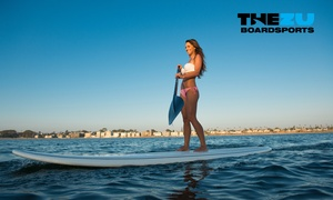 The Zu Boardsports: One-Hour Stand-Up Paddleboard Lesson for One ($35) or Two People ($59) with The Zu Boardsports (Up to $118 Value)