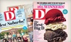 """D"" Magazine: 12-Issue Subscription to ""D"" Magazine with or without 12-Issue Subscription to ""D Home"" (Up to 54% Off)"