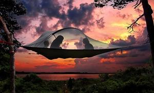 Adrenalinbecker: Erlebnistag inkl. Übernachtung im Baumzelt für 2 oder 4 Personen bei Adrenalinbecker (bis zu 55% sparen*)
