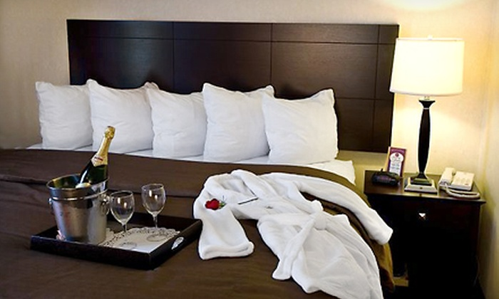 Comfort Suites - Elgin, IL: One-Night Stay with Romance Package and Optional Steak-House Dining Credit at Comfort Suites in Elgin (Up to 56% Off)