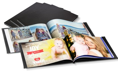 image for One or Two 20-, 40- or 60-Page Leather Photobooks from Printerpix (Up to 78% Off)