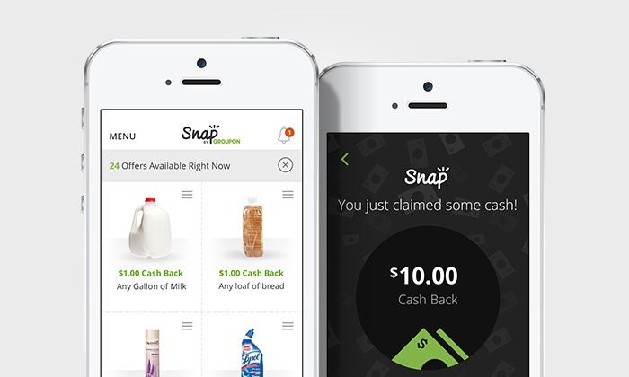 Snap by Groupon: Earn $1 Cash Back with Purchase of Milk from Any Store with Snap by Groupon