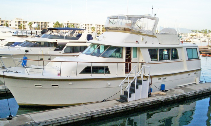 Odyssey Yacht Charter - LA Harbor: 3-Hour Party Cruise or 4-Hour Luxury Sport Fishing Trip from Odyssey Yacht Charter in San Pedro (51% Off)