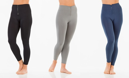 3-Pack of Women's Fleece-Lined Leggings with Zipper