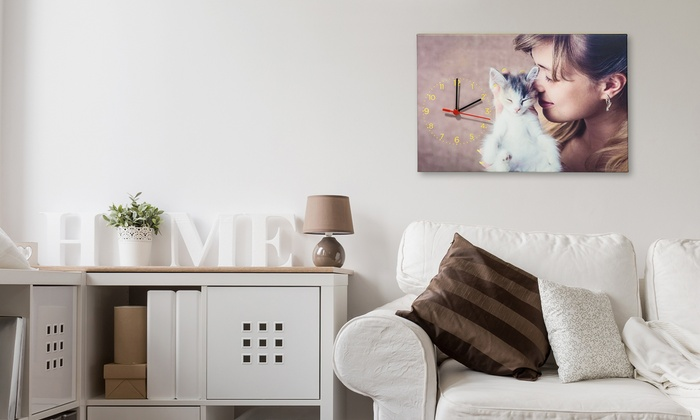 Personalised Canvas Wall Clock   Groupon Goods
