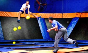 Sky Zone Newark: Jump Sessions or Jump Around Party for 10 at Sky Zone Newark (Up to 47% Off). Three Options Available.