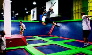 Birthday Party With Jump Time, Pizza, And Soda For 10 Or 20 Kids At Skytown Trampoline Park (up To 51% Off)