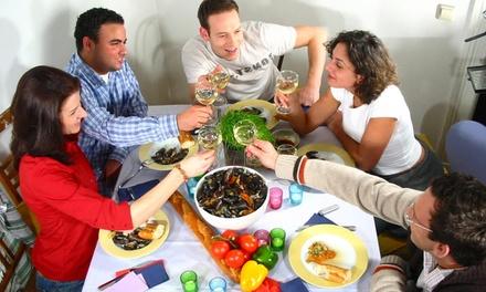 Jumping Dinner in 3 Gängen zum Kennenlernen neuer Leute für 1 oder 2 Personen mit jumpingdinner (bis zu 52% sparen*)