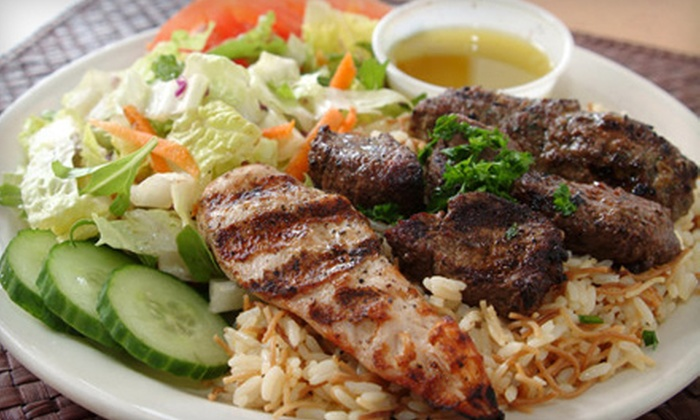 Aladdin's Eatery - Fairlington - Shirlington: Lebanese Dinner for Two or Four Appetizers, Specialty Plates, and Dessert at Aladdin's Eatery (Up to 51% Off)