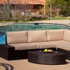 Bodega Outdoor Brown Wicker Sofa Set