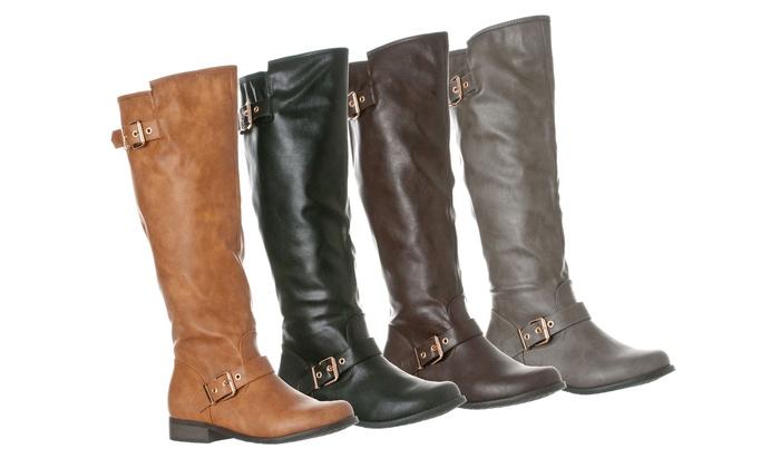 144a03ea08e Riverberry Women s Mia Knee-High Riding Boots