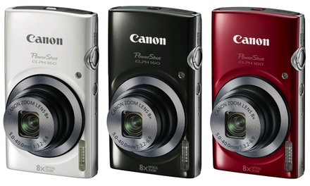 Canon PowerShot ELPH 160 20MP 720p Digital Camera with 8x Optical Zoom and 4x Digital Zoom