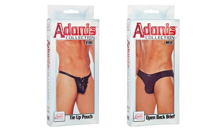 Adonis Men's Sensual Open-Back Brief or Tie-Up Pouch