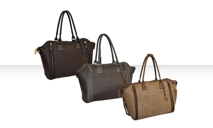 Adrienne Vittadini Croco-Embossed Laptop Totes: Adrienne Vittadini Croco-Embossed Laptop Totes in Brown, Olive, or Stone. Free Shipping and Returns.