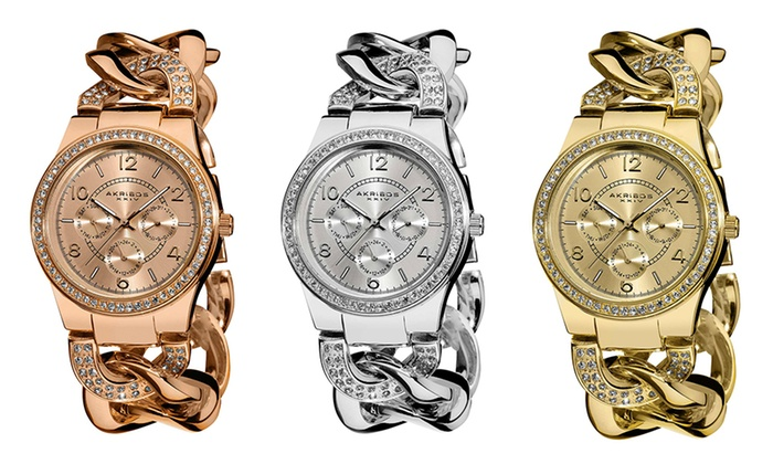 Groupon Goods Global GmbH: Akribos XXIV Women's Quartz Watch for €39.99 With Free Delivery