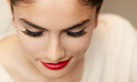 Full Set of Eyelash Extensions with Optional Fill at Glowing Skin & Nails (50% Off)
