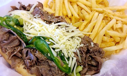 $11 for Two Groupons, Each Good for $10 Worth of American Food at Pop's Beef ($20 Total Value)